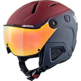Alpina Attelas Visor QVM Ski Helmet nightb-bord matt